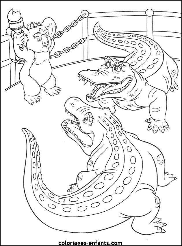 coloriage à dessiner capitaine crochet crocodile