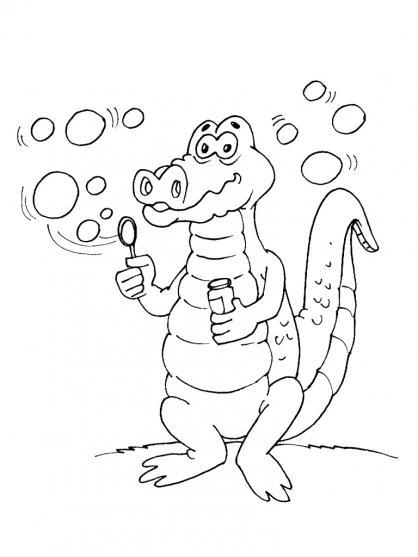 coloriage à dessiner crocodile gratuit en ligne