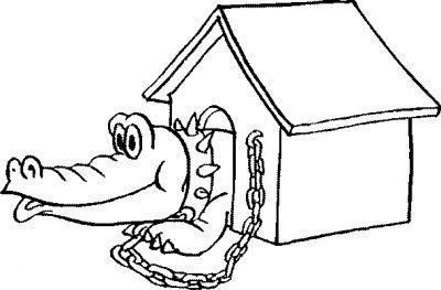 dessin à colorier mandala crocodile