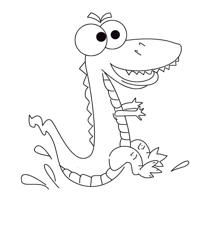 Crocodile en dessin - Dessiner un crocodile ...