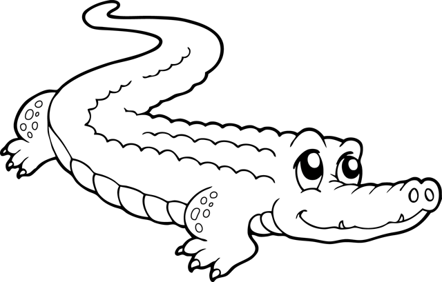 114 Dessins De Coloriage Crocodile A Imprimer