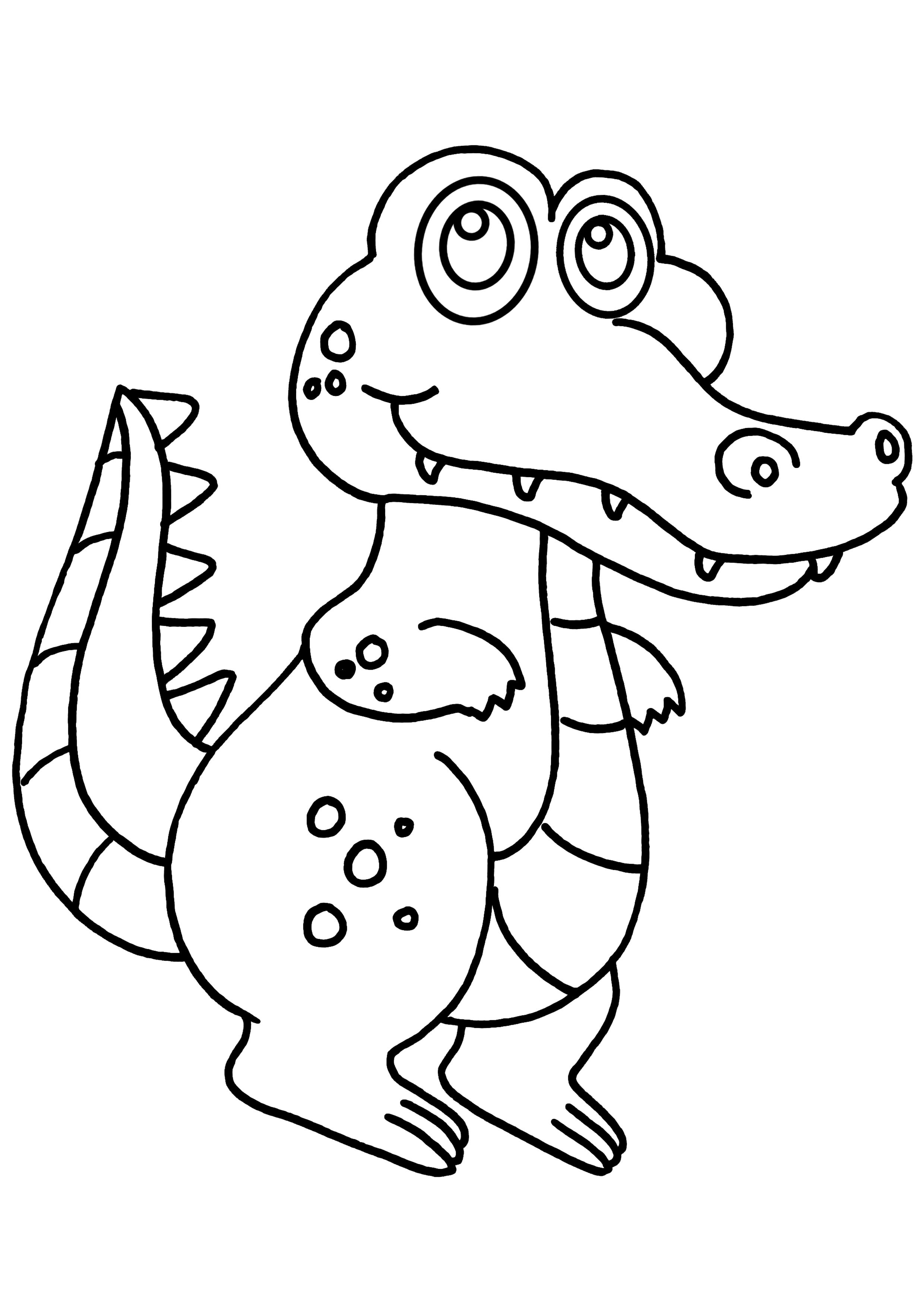 Coloriage Animaux Crocodile.Coloriage Un Crocodile