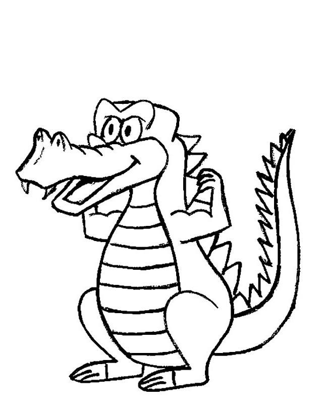 Coloriage Gratuit Crocodile.Dessin A Colorier Animaux Crocodile