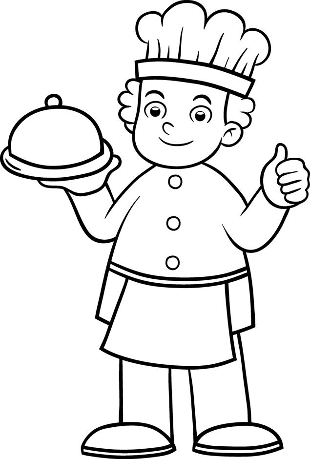 9 dessins de coloriage cuisinier a imprimer gratuit imprimer for Un cuisinier