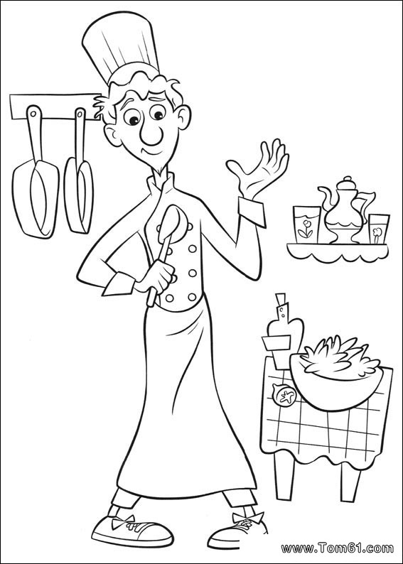 ratatouille coloring pages - 9 dessins de coloriage cuisinier ratatouille imprimer