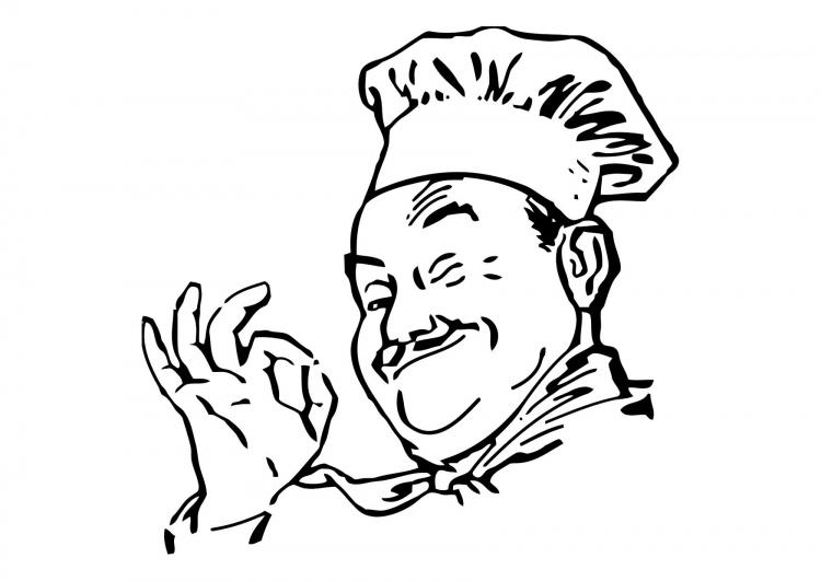 9 dessins de coloriage cuisinier rigolo imprimer for Cuisinier humoristique