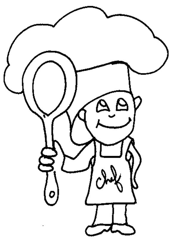 dessin cuisinier
