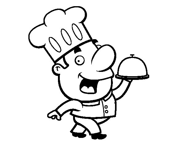 coloriage metier cuisinier