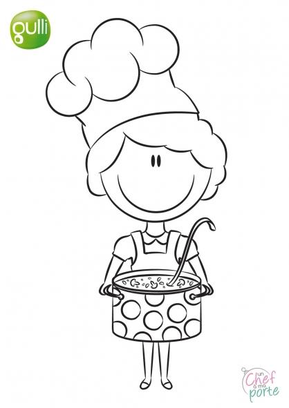 18 dessins de coloriage cuisiniere imprimer for Cuisine a colorier