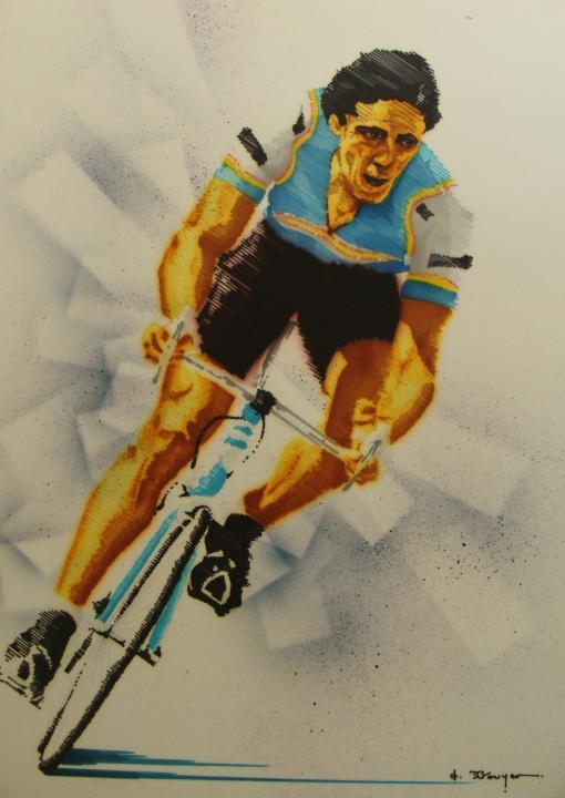 coloriage coureur cycliste