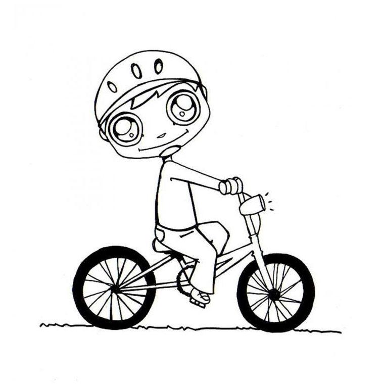 dessin à colorier cycliste imprimer