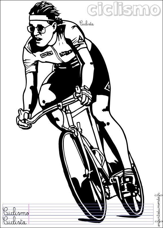 coloriage de cycliste