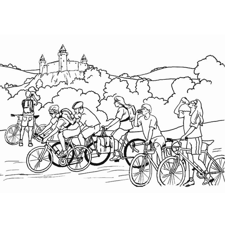 Coloriage de cycliste du tour de france - Cycliste dessin ...