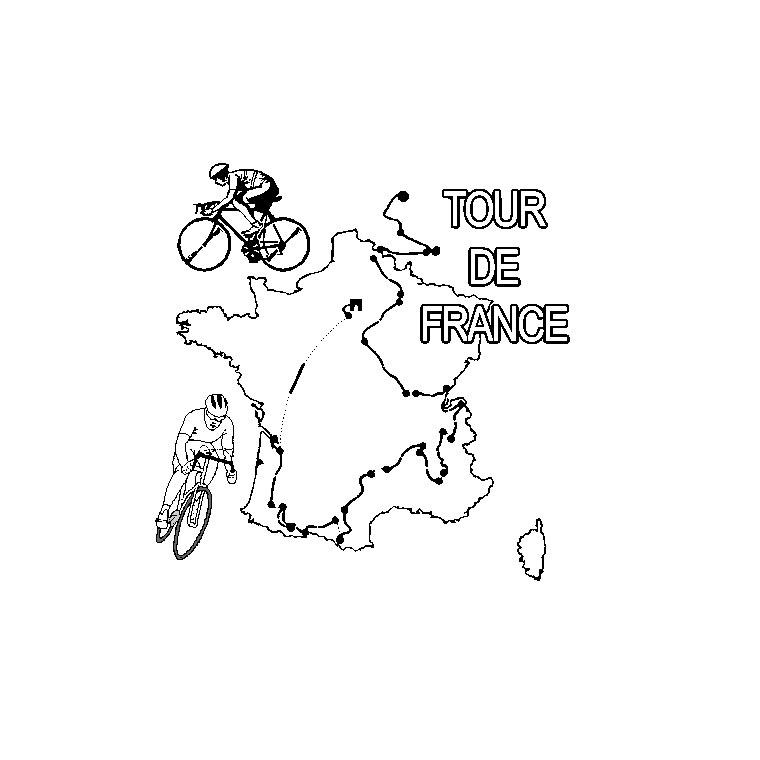 coloriage à dessiner coureur cycliste