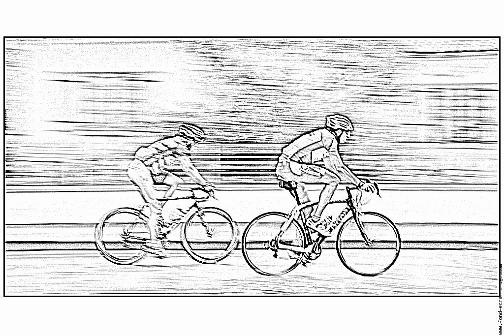 dessin à colorier cycliste gratuit
