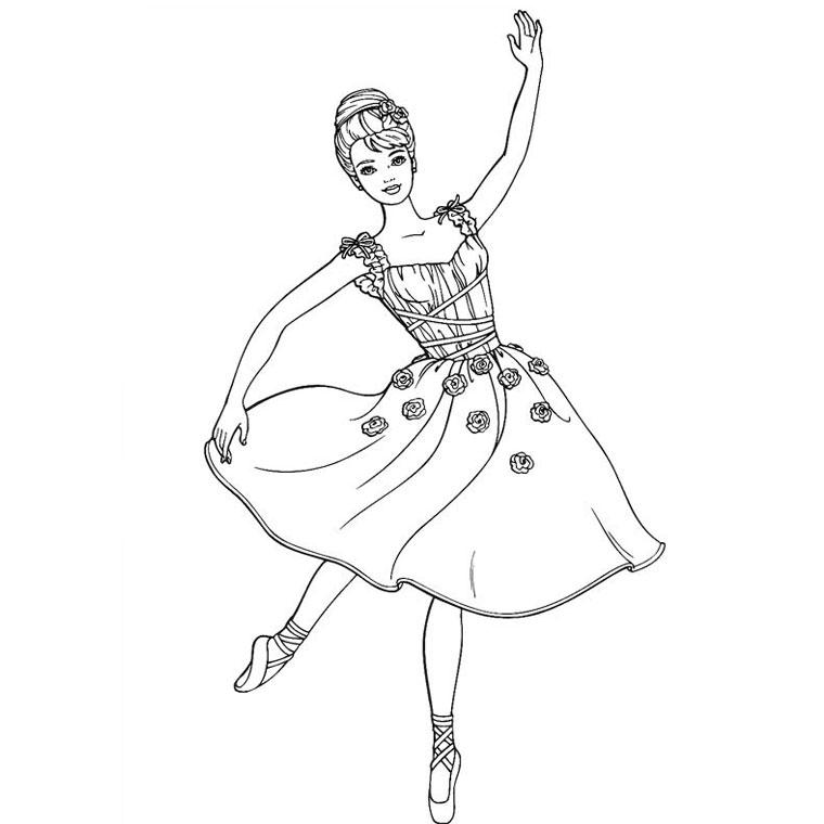 coloriage danseuse tango