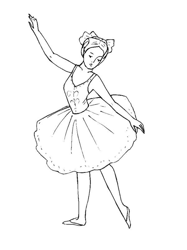 Coloriage Dessin Anime Ballerina.Coloriage Ballerine Colorier Les Enfants Marnfozine Com