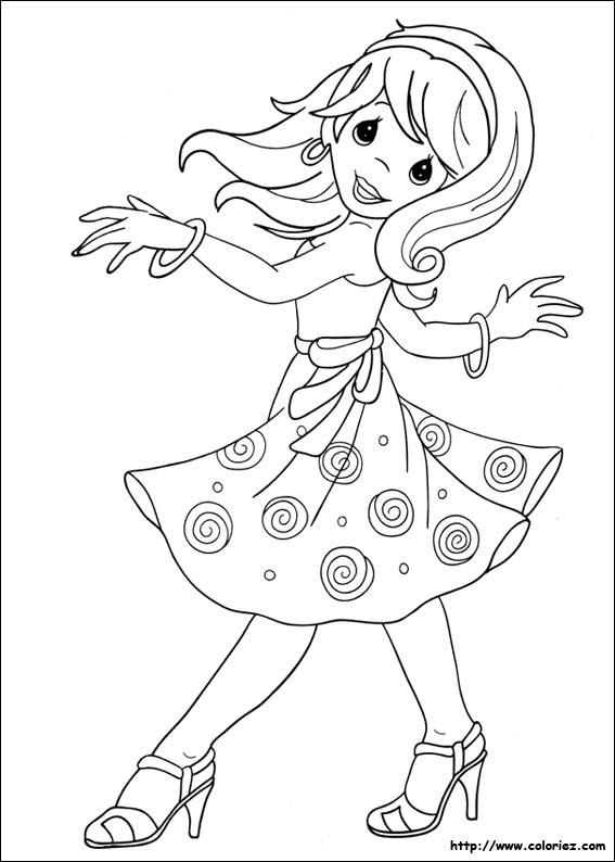 coloriage princesse danseuse étoile