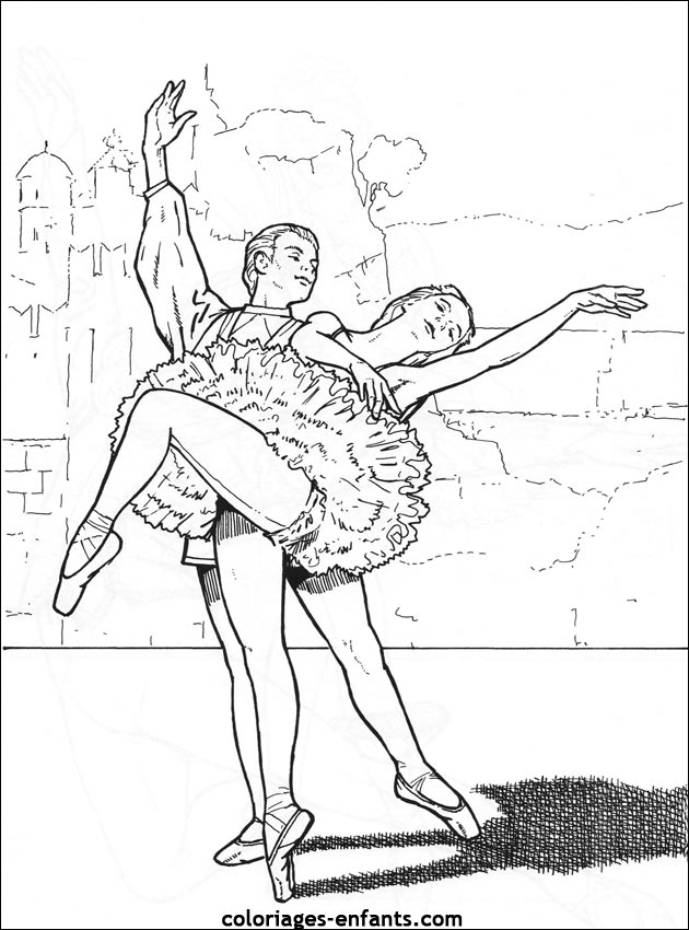coloriage gratuit danseuse �toile