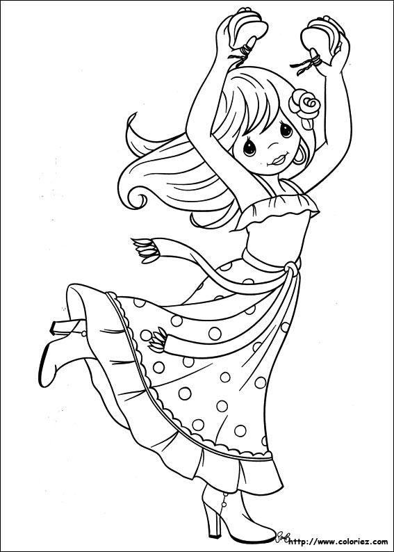coloriage danseuse espagnole