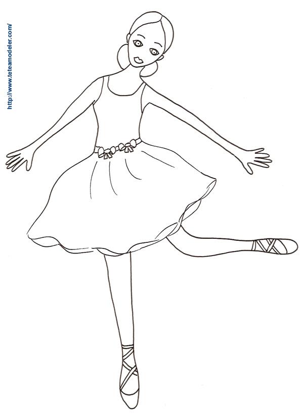 Coloriage Danseuse De Ballet.28 Dessins De Coloriage Danseuse A Imprimer