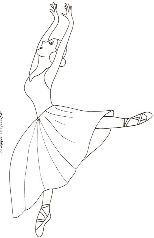 Tfou coloriage danseuse - Dessiner une danseuse ...