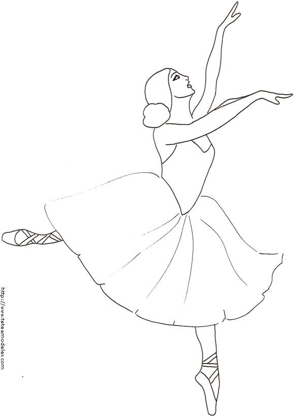 dessin à colorier danse en ligne