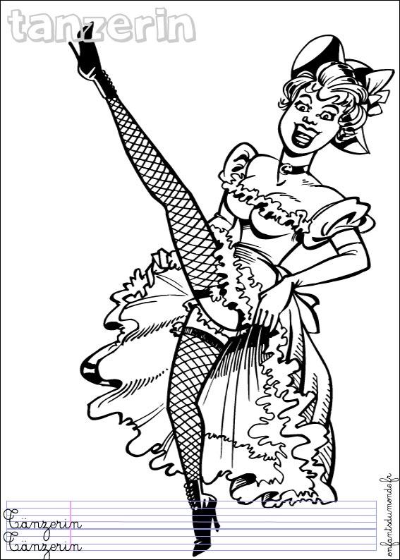 dessin barbie danseuse imprimer