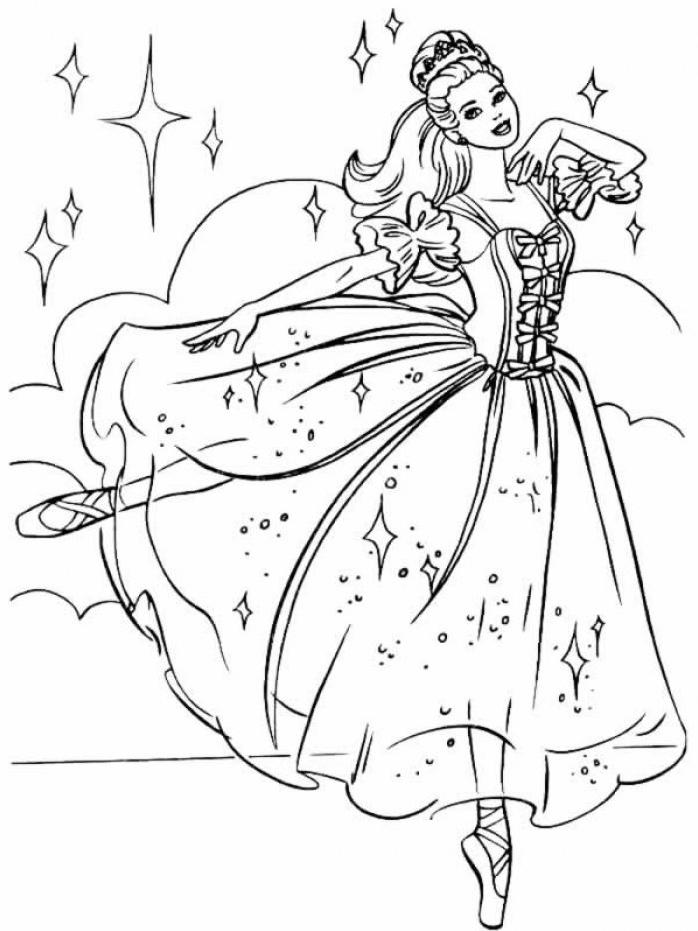 dessin princesse danseuse étoile