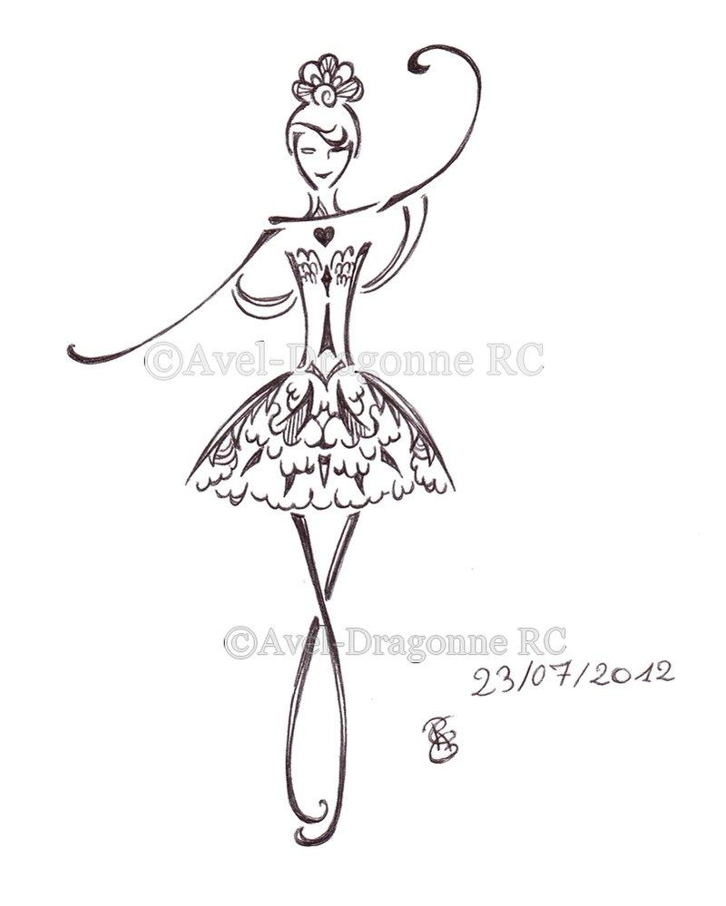 dessin de danseuse à imprimer