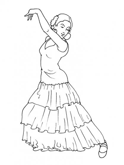 coloriage danse classique imprimer gratuit