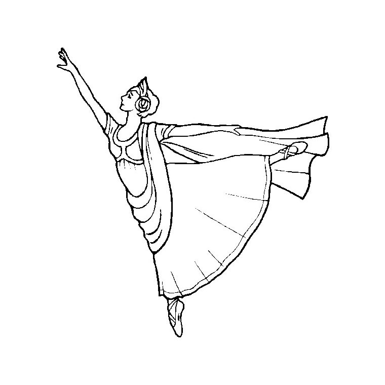Coloriage Danseuse Flamenco A Imprimer.Dessin Danseuse Flamenco A Imprimer