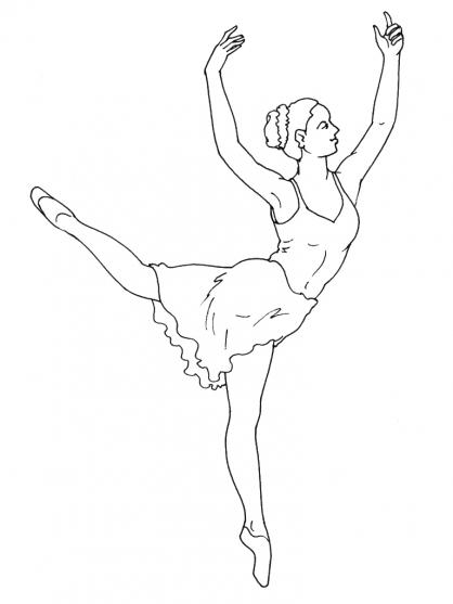 coloriage à dessiner barbie danseuse gratuit
