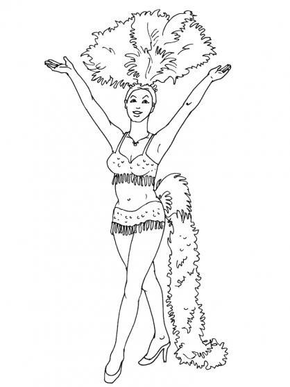 dessin à colorier danse classique a imprimer