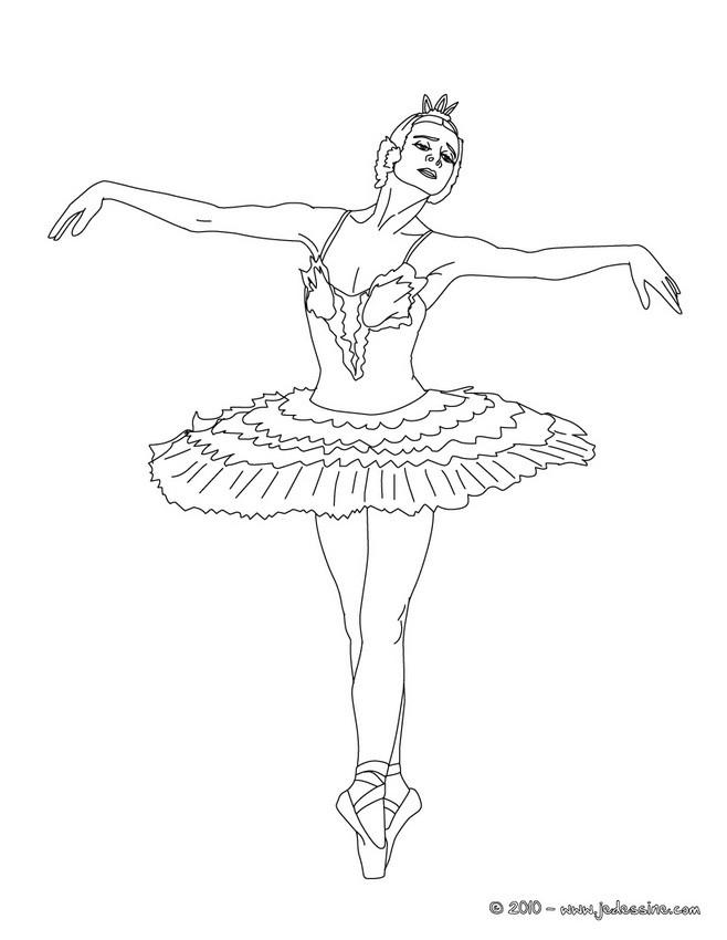 coloriage à dessiner danseuse moderne jazz