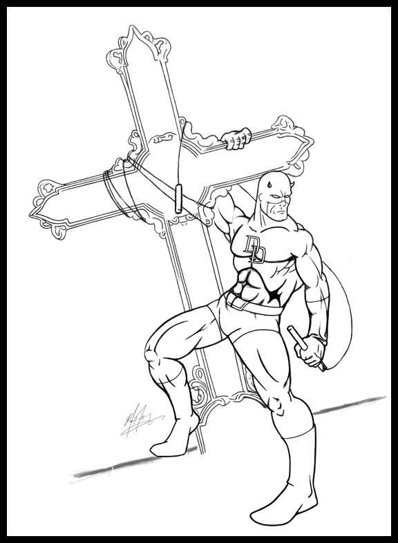 netflix daredevil coloring pages - photo#10