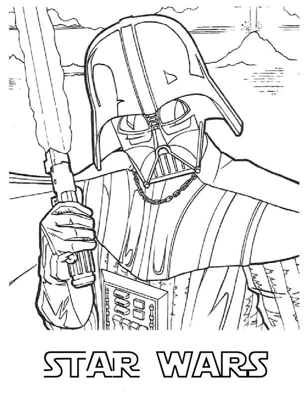 dessin dark vador imprimer gratuit