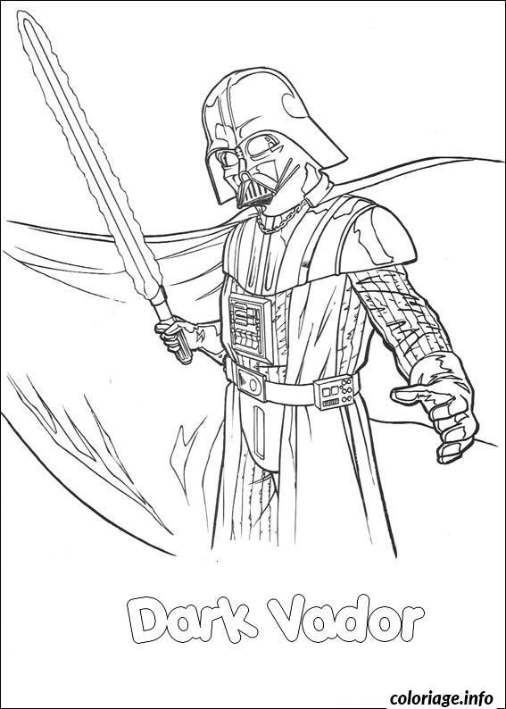 dessin à colorier dark vador