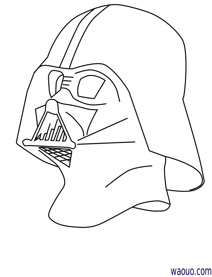 dessin dark vador masque
