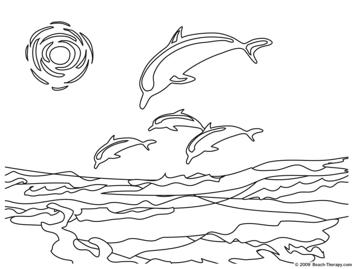 Coloriage dessiner de dauphin amoureux a imprimer - Dauphin a dessiner ...