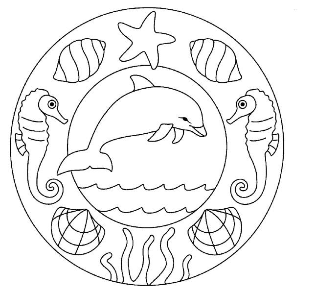 imprimer coloriage à dessiner dauphin
