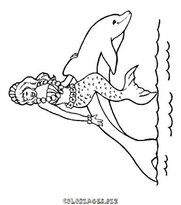Coloriage Dauphin Amoureux.Dessin Dauphin Amoureux