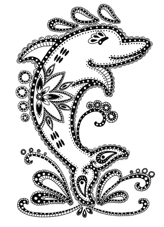 Imprimer coloriage dessiner dauphin - Dauphin a dessiner ...