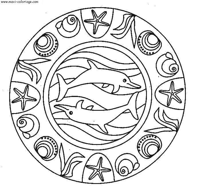 dessin d'un dauphin a imprimer