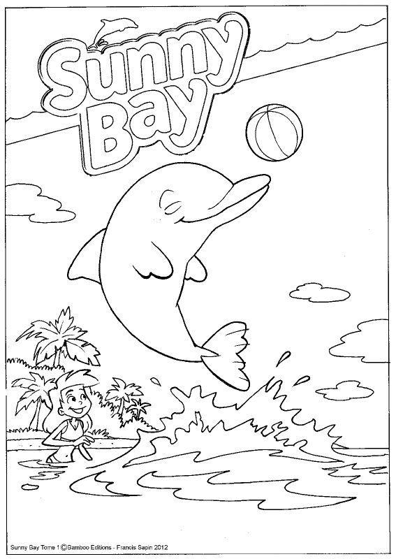 Dessin coloriage dauphin imprimer - Dauphin dessin couleur ...