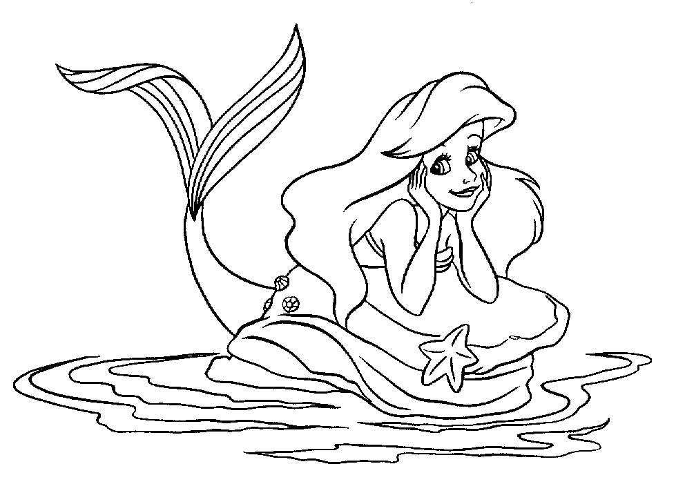 19 dessins de coloriage de ariel la petite sir ne a - Coloriage princesse ariel ...