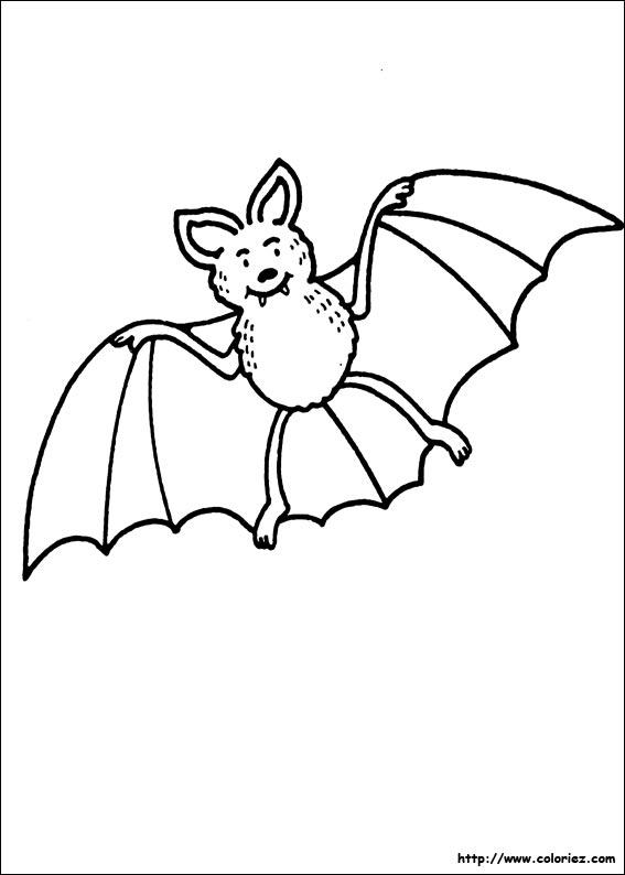 9 dessins de coloriage de chauve souris pour halloween for Gabarit chauve souris a imprimer