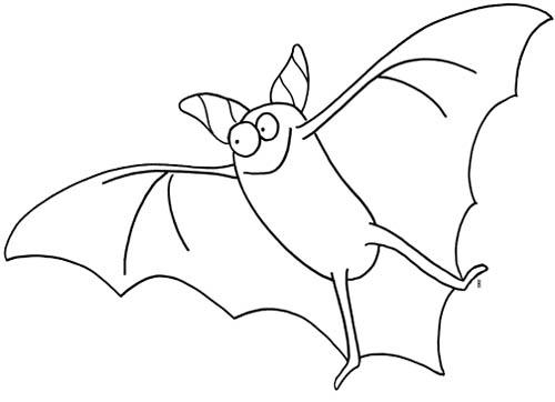 9 dessins de coloriage de chauve souris pour halloween - Dessin halloween chauve souris ...