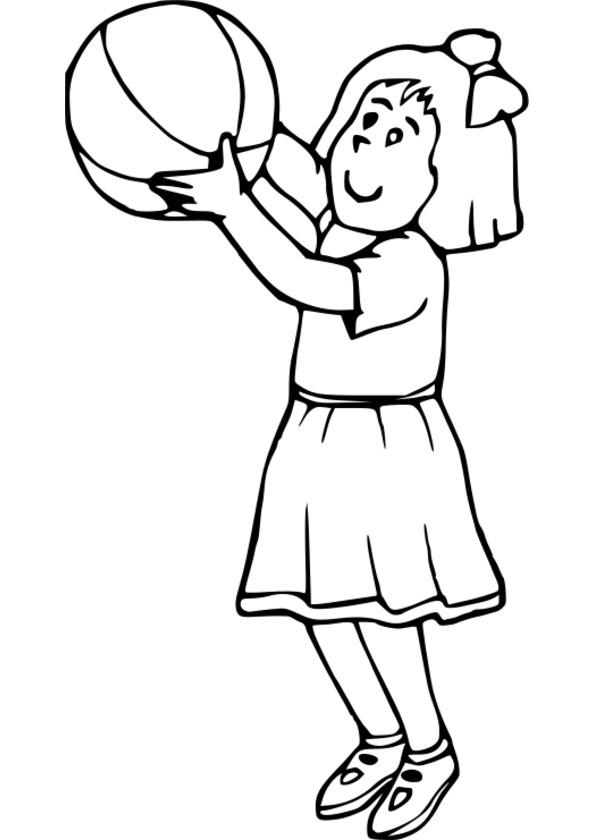 coloriage de fille habiller - Coloriage Fille