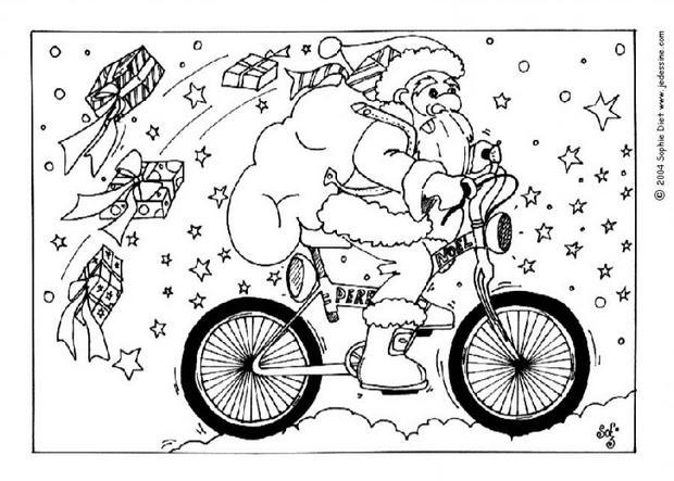 15 dessins de coloriage de la tourn e du p re no l imprimer - Coloriage village de noel ...